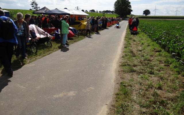Das Rennen war sehr gut besucht...